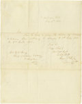 Autographs:Military Figures, Confederate General George E. Pickett Autograph Letter Signed. A fine July 4, 1856 ALS written as a captain from a fort in t...
