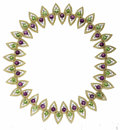 Estate Jewelry:Necklaces, Peridot, Amethyst, Diamond, Gold Necklace, Kern. The flexiblenecklace features teardrop-shaped open wire links, enhanced ...