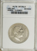 Coins of Hawaii: , 1883 50C Hawaii Half Dollar--Cleaned--ANACS. AU50 Details. NGCCensus: (16/180). PCGS Population (41/265). Mintage: 700,000...