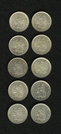 Argentina: , Argentina: Republic 10 Centavos 1882 - Lot of Ten, KM26, a nicelittle cache of lustrous mint state examples of this scarcer date.Cata... (Total: 10 Coins Item)