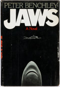 Books:Horror & Supernatural, Peter Benchley. Jaws. Garden City: Doubleday & Company, 1974. Inscribed by the author....