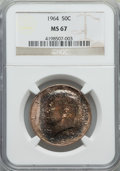 Kennedy Half Dollars: , 1964 50C MS67 NGC. NGC Census: (44/0). PCGS Population (35/0).Mintage: 273,300,000. Numismedia Wsl. Price for problem free...