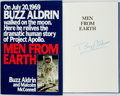 Books:Biography & Memoir, Buzz Aldrin and Malcom McConnell. SIGNED. Men from Earth.Bantam Books, [1989]. First Edition. Signed by Buzz ...