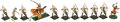 Antiques:Antiquities, Cast Metal Military Soldiers by Richard Courtenay of England: Battle of Poitiers Eleven Figures.... (Total: 11 Items)