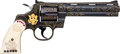 Handguns:Double Action Revolver, Custom Engraved Jewel Mounted Colt Python Double Action Revolver....