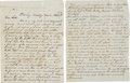 Autographs:Military Figures, Battle of Shiloh Content Letter by Jacob M. Porter of the 8th Ohio Light Artillery. ...