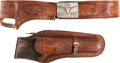 Western Expansion:Cowboy, Hand Tooled Buscadero Gun Belt with Silver and Gold Buckle Set byA. Cavaletto....