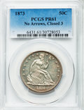 Proof Seated Half Dollars, 1873 50C No Arrows, WB-102, PR61 PCGS. No Arrows, Closed 3. A confirmed proof, brilliant with a hint of gold toning on the ...