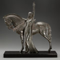 Sculpture, ART DECO EQUESTRIAN BRONZE AFTER MAX LE VERRIER. 18-1/2 inches (47.0 cm) high on a 1 inch (2.5 cm) high marble base. Stamped...