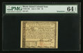 Colonial Notes:Rhode Island, Rhode Island July 2, 1780 $8 PMG Choice Uncirculated 64 EPQ.. ...