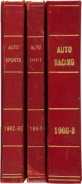 "Miscellaneous Collectibles:General, 1962-68 ""Auto Racing"" & ""Auto Sports"" Bound Magazines Lot of 3Volumes. ..."