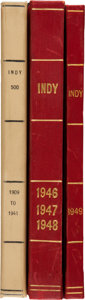 """Miscellaneous Collectibles:General, 1909-49 """"Indy"""" Hardcover Books Lot of 3...."""