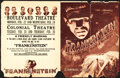 "Movie Posters:Horror, Frankenstein (Universal, 1931). Herald (16.5"" X 10.5""). DS Horror....."