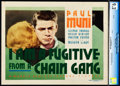 "Movie Posters:Film Noir, I Am a Fugitive from a Chain Gang (Warner Brothers, 1932). CGC Graded Title Lobby Card (11"" X 14"").. ..."