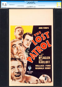 "The Lost Patrol (RKO, 1934). CGC Graded Midget Window Card (8"" X 14"")"