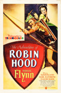 "Movie Posters:Swashbuckler, The Adventures of Robin Hood (Warner Brothers, 1938). One Sheet(27"" X 41"").. ..."