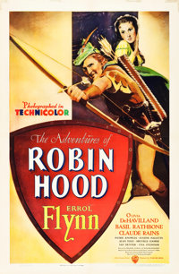 "The Adventures of Robin Hood (Warner Brothers, 1938). One Sheet (27"" X 41"")"