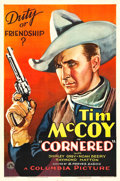 "Movie Posters:Western, Cornered (Columbia, 1932). One Sheet (27"" X 41"").. ..."
