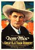 "Movie Posters:Western, The Great K & A Train Robbery (Fox, 1926). One Sheet (28.25"" X 41"").. ..."