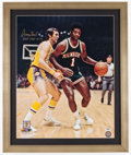 Basketball Collectibles:Photos, Oscar Robertson Signed Oversized Photograph....