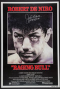 """Boxing Collectibles:Autographs, Jake LaMotta Signed """"Raging Bull"""" Print...."""