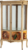 Furniture : French, A FRENCH GILT BRONZE MOUNTED VERNIS MARTIN VITRINE CABINET, circa1900. 64-1/2 x 37 x 16-1/2 inches (163.8 x 94.0 x 41.9 cm)...