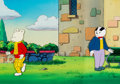 Animation Art:Production Cel, Rupert the Bear Pan Production Cel and Master Pan ProductionBackground Setup (Nelvana, 1991).... (Total: 3 Original Art)