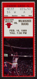 Basketball Collectibles:Others, 1989 Michael Jordan 50 Point Game Ticket Stub....