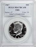 SMS Kennedy Half Dollars, 1967 50C SMS MS67 Deep Cameo PCGS....