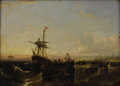 Fine Art - Painting, European:Antique  (Pre 1900), WILLIAM ADOLPHUS KNELL (British 1798-1875). Shipping Scene.Oil on panel. 11 x 15 inches (27.9 x 38.1 cm). Unsigned. ...