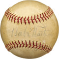 Autographs:Baseballs, 1930's Babe Ruth Single Signed Baseball. An Official AmericanLeague baseball from the presidency of William Harridge provi...