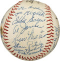 Autographs:Baseballs, 1957 Cleveland Indians Team Signed Baseball with Roger Maris. While the Indians rambled to a rather unremarkable sixth plac...