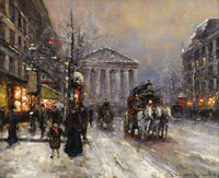 EDOUARD LEON CORTES (French 1882-1969) Rue Royal, Paris Oil on canvas 18 x 22 inches (45.7 x 55.9