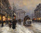 EDOUARD LEON CORTES (French 1882-1969) Rue Royal, Paris Oil on canvas 18 x 22 inches (45.7 x 55.9 cm) Signed lower r