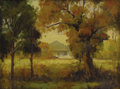 Texas:Early Texas Art - Regionalists, CHARLES BOWLING (1891-1995). Untitled Early Autumn Jefferson,Texas, mid-1940s. Oil on artistboard. 12 x 16 inches(30.5...
