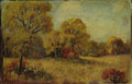 Texas:Early Texas Art - Impressionists, NELL MOSELEY (dec.). Untitled Autumn Landscape. Oil onpaperboard. 6 x 9 inches (15.2 x 22.9 cm). Signed lower left...