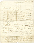"Autographs:Authors, Author Sarah J. Hale Autograph Letter Signed ""S. J. Hale"". One page, 6.75"" x 8.5"", Philadelphia, December 18, 1850, in i... (Total: 1 Item)"