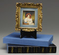 Texas:Early Texas Art - Impressionists, MARY WITHERSPOON (1904-1999). Princess Melanie MetternichMiniature (after Moritz Michael Daffinger 1790-1849 Vienna).O...