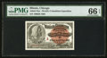 "Miscellaneous:Other, World's Columbian Exposition Columbus ""A"" Ticket 1893 PMG GemUncirculated 66 EPQ.. ..."