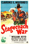 """Movie Posters:Western, Stagecoach War (Paramount, 1940). One Sheet (27"""" X 40.75"""").. ..."""