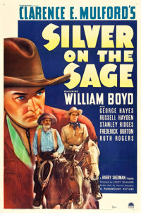 """Silver on the Sage (Paramount, 1939). One Sheet (27"""" X 41"""")"""