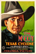 "Movie Posters:Western, Texas Cyclone (Columbia, 1932). One Sheet (27"" X 41"").. ..."