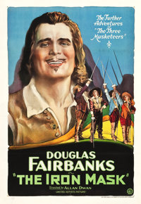 "The Iron Mask (United Artists, 1929). One Sheet (28.25"" X 41"")"