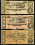 Confederate Notes:1864 Issues, Two T68's and a T69.. ... (Total: 3 notes)