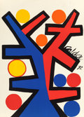 Prints, ALEXANDER CALDER (American, 1898-1976). Tree, 1972. Screenprint in colors on wove paper. 32 x 22-3/4 inches (81.3 x 57.8...