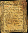 Colonial Notes:Pennsylvania, Pennsylvania April 25, 1776 3d Very Good.. ...