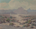 Fine Art - Painting, European, MARY SUEHANNA COLEMAN (American, 1894-1956). Palm SpringsDesert. Oil on canvas. 25 x 30 inches (63.5 x 76.2 cm).Signed...