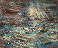Fine Art - Painting, American, JAY MEUSER (American, 1911-1963). Seascape. Oil on board.19-3/4 x 23-7/8 inches (50.2 x 60.6 cm). ...