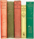 Books:Literature 1900-up, H. G. Wells. Group of Five Fiction Titles. Various publishers and dates.... (Total: 5 Items)