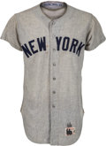 Baseball Collectibles:Uniforms, 1966 Mickey Mantle Game Worn New York Yankees Jersey, MEARS A9.5....